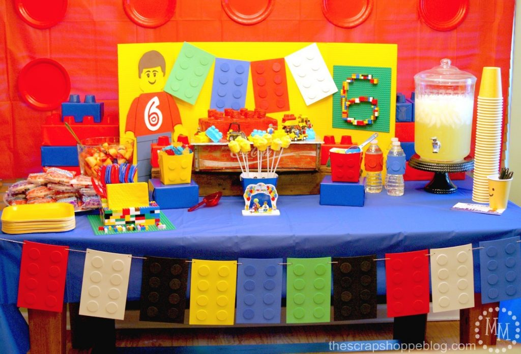 & LEGO Birthday Party! - The Scrap Shoppe
