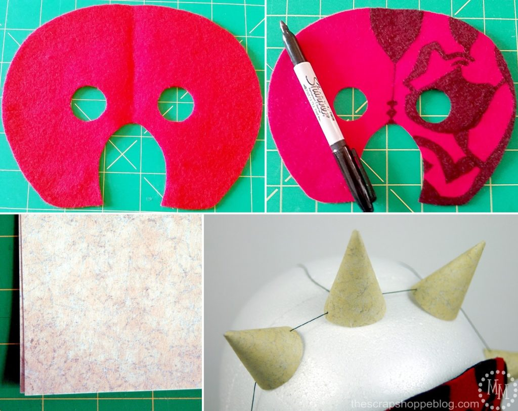 Diy darth maul yoda costumes the scrap shoppe diy darth maul face mask solutioingenieria Gallery