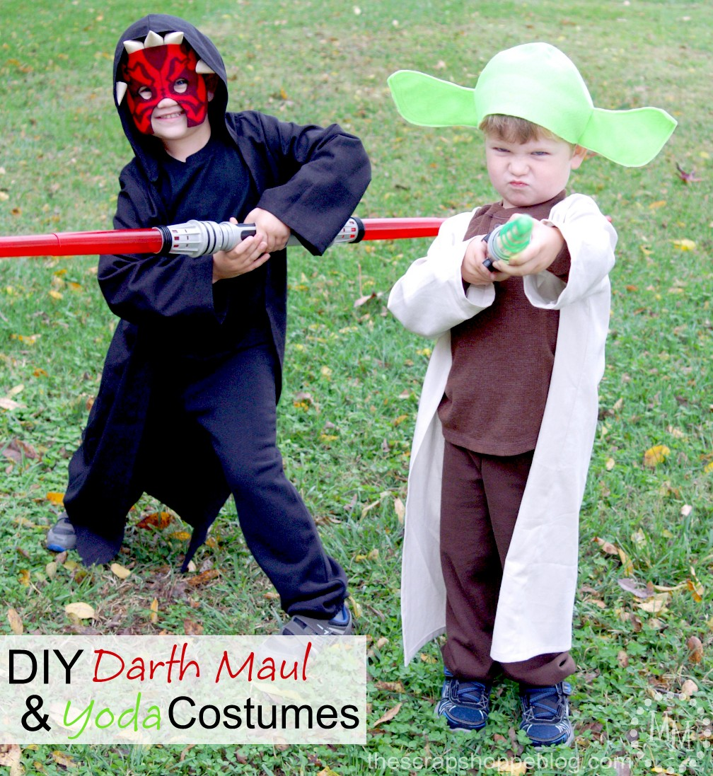 Diy darth maul yoda costumes the scrap shoppe diy star wars costumes solutioingenieria Gallery