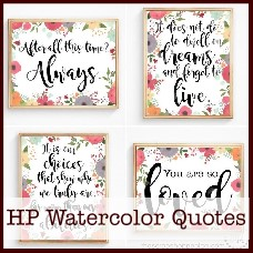 Harry Potter Quotes Watercolor Prints