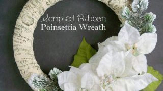 Scripted Ribbon Poinsettia Wreath