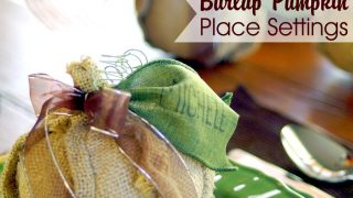 Burlap Pumpkin Place Setting
