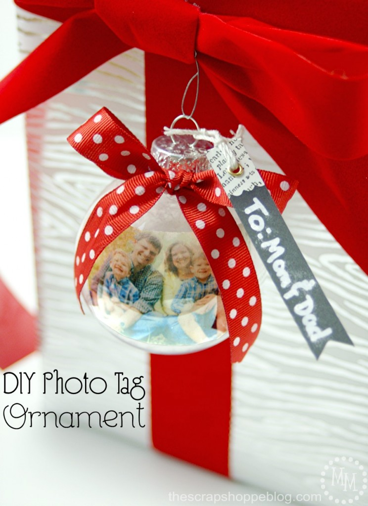 photo tag ornament
