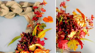 Fall Harvest Wreath & Centerpiece