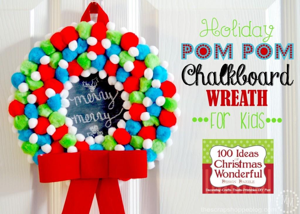 holiday-pom-pom-chalkboard-wreath-for-kids2
