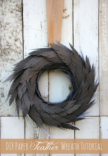 paper-feather-wreath