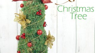 Rustic Moss Christmas Tree
