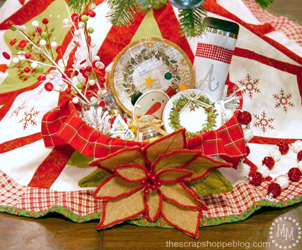 Holiday Hostess Gift Basket - The Scrap Shoppe