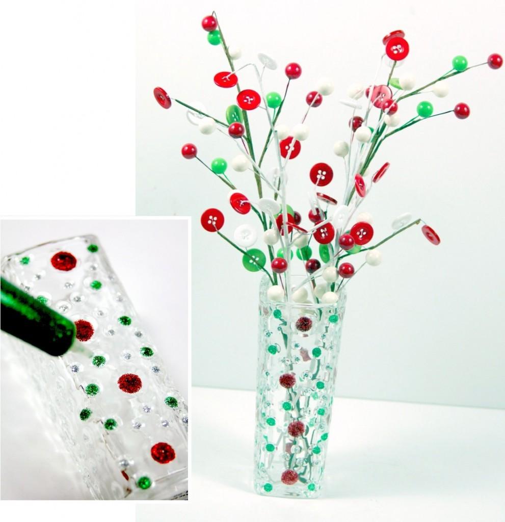 christmas-polka-dot-vase