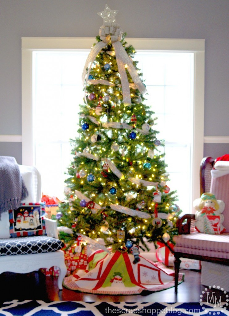 2014 christmas decor how to raise your tree the scrap for 2014 christmas tree decoration