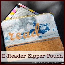 e-reader zipper pouch