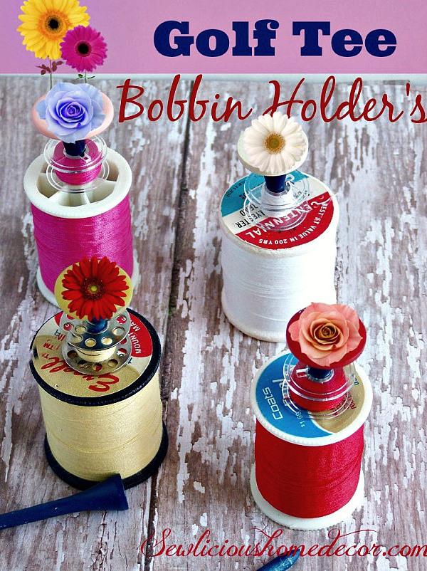 Golf-Tee-Sewing-Bobbin-Holders