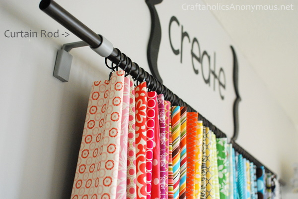 Great Hanging Fabric Storage