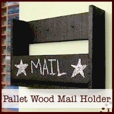 hd-pallet wood mail holder