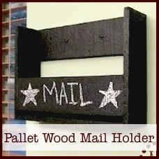 hd-pallet wood mail holder