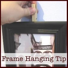 picture frame hanging tip