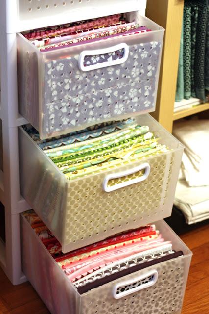 20 fabric storage ideas the scrap shoppe. Black Bedroom Furniture Sets. Home Design Ideas