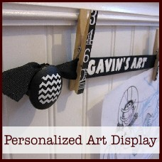 Personlaized Art Display