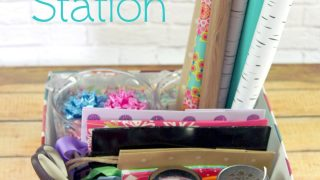 Simple Gift Wrap Station