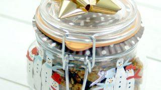 Snowman Fingerprint Gift Jar