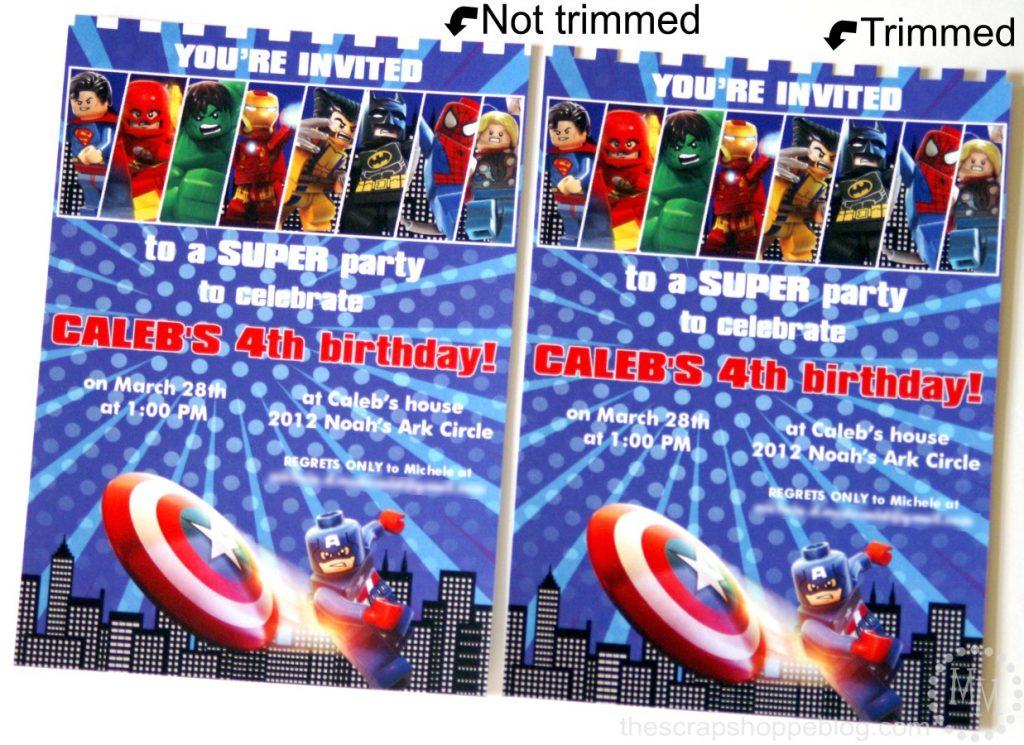 Lego Superhero Birthday Invitation