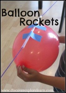 DIY Indoor Boredom Busters for Kids - balloon rockets