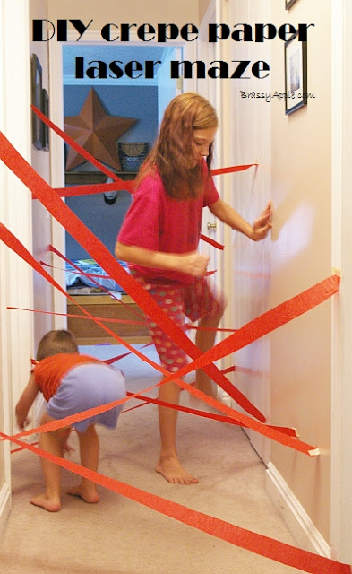 DIY Indoor Boredom Busters for Kids - diy laser maze