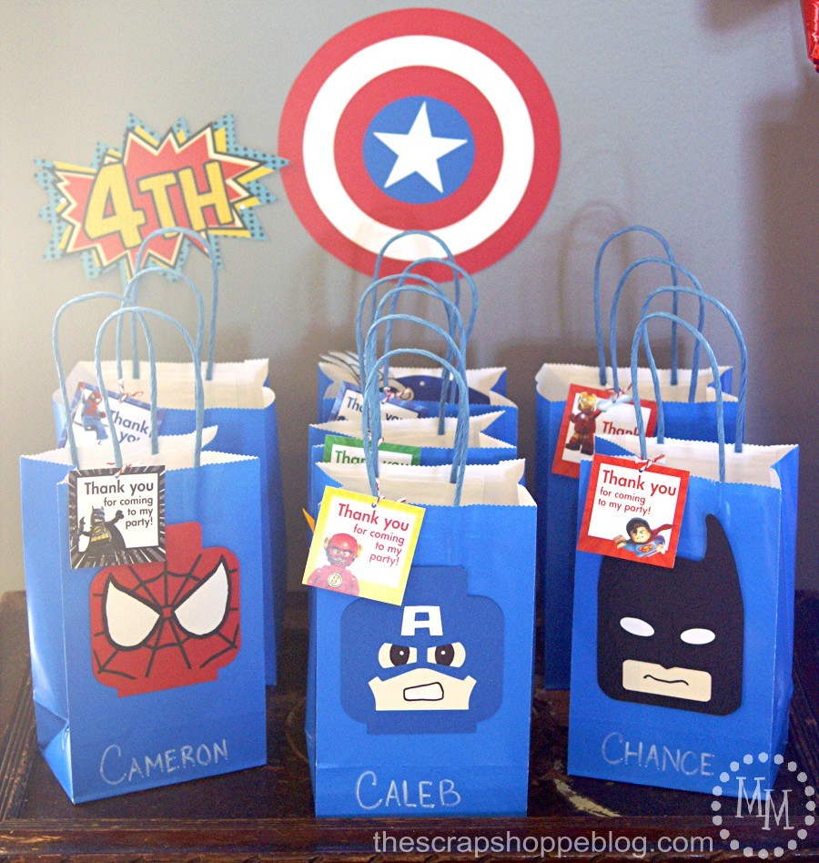 Lego Superhero Birthday Party - The Scrap Shoppe