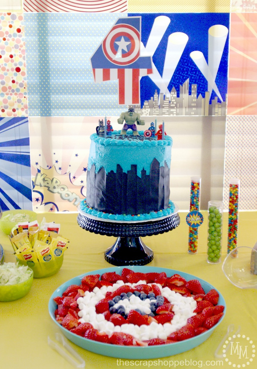 LEGO Superhero Birthday Party The Scrap Shoppe
