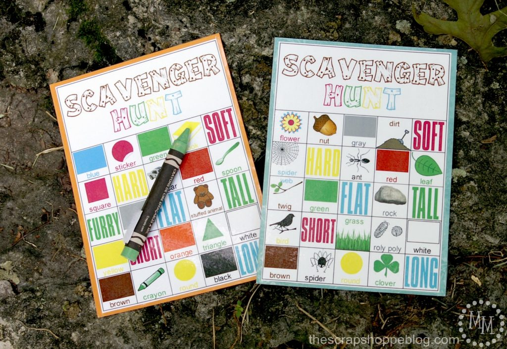 DIY Indoor Boredom Busters for Kids - scavenger hunt free printables