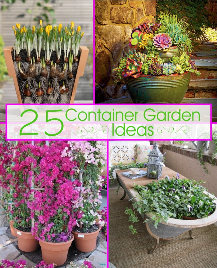 25 container garden ideas the scrap shoppe for Container gardening ideas