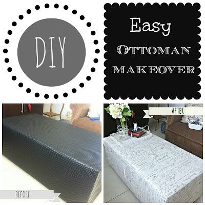 easy ottoman makeover
