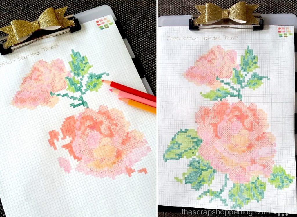 rose-cross-stitch-pattern
