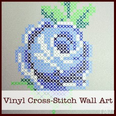 vinyl cross-stitch wall art