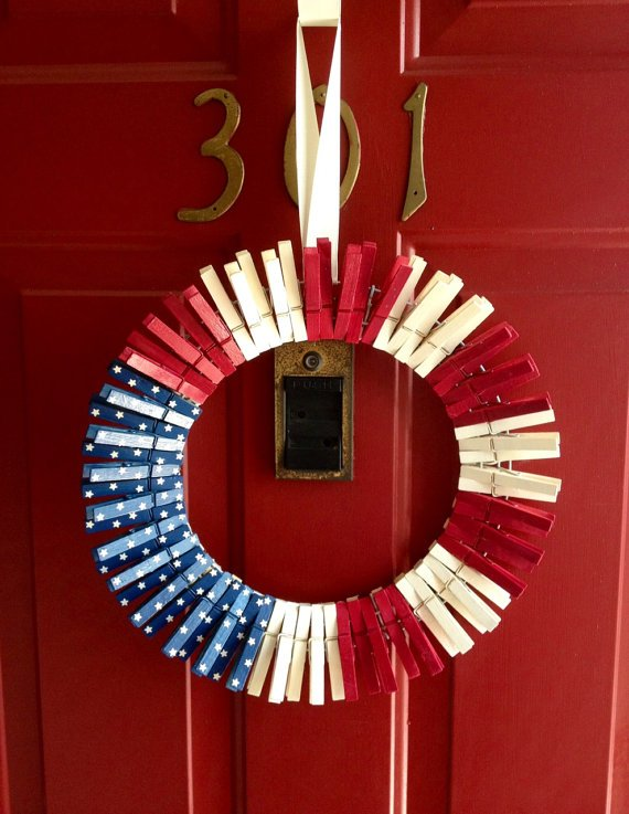 clothespin-patriotic-wreath