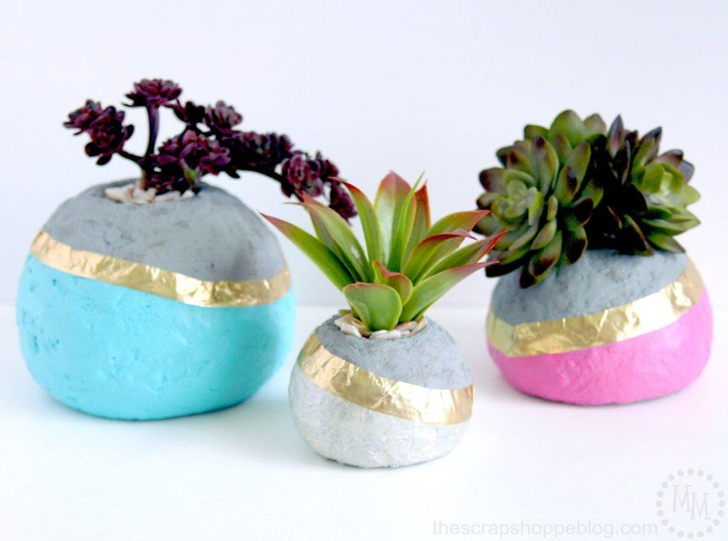 dipped-faux-concrete-planters