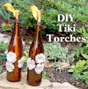 DIY Tiki Torches - upcycle bottles into portable mosquito repellents!