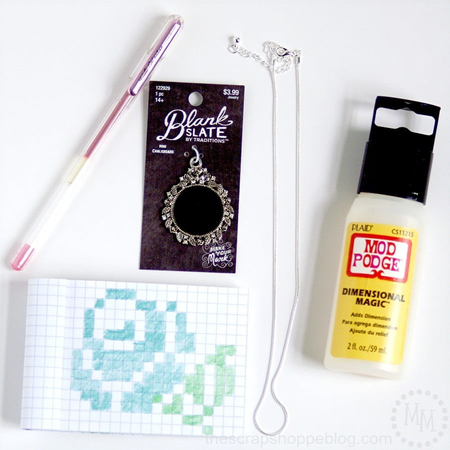 Faux Cross-Stitch Necklace