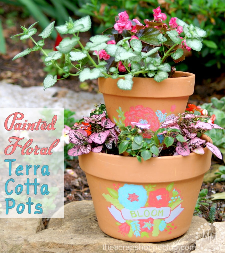 floral-painted-terra-cotta-pots