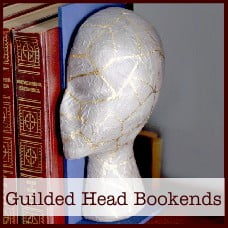 Guilded Head Bookends
