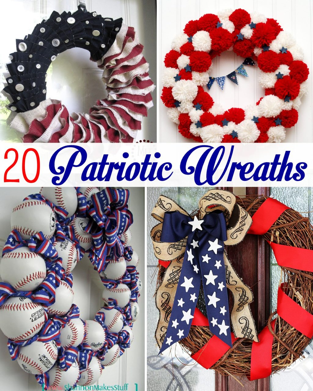 20 patriotic wreaths the scrap shoppe for Americana crafts to make