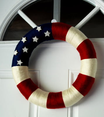 patriotic-yarn-wreath