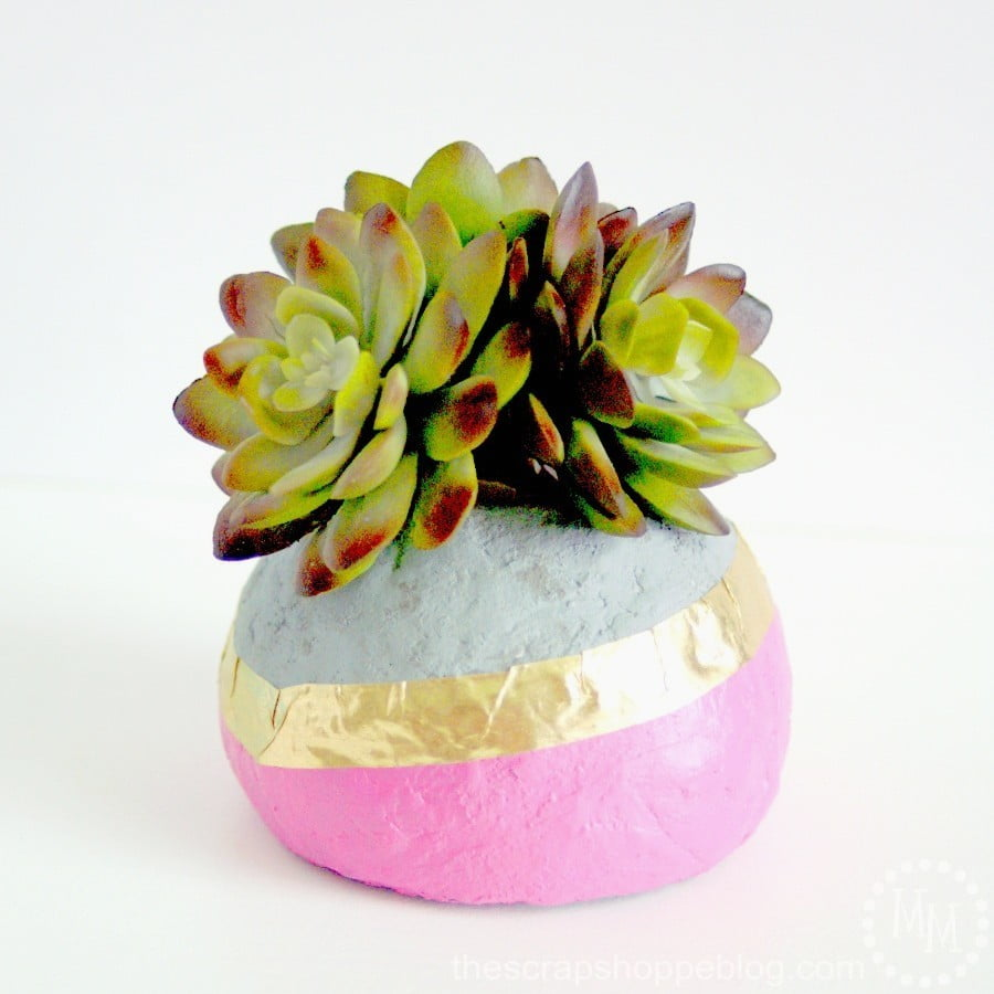 Faux Concrete Succulent Planters - The Scrap Shoppe