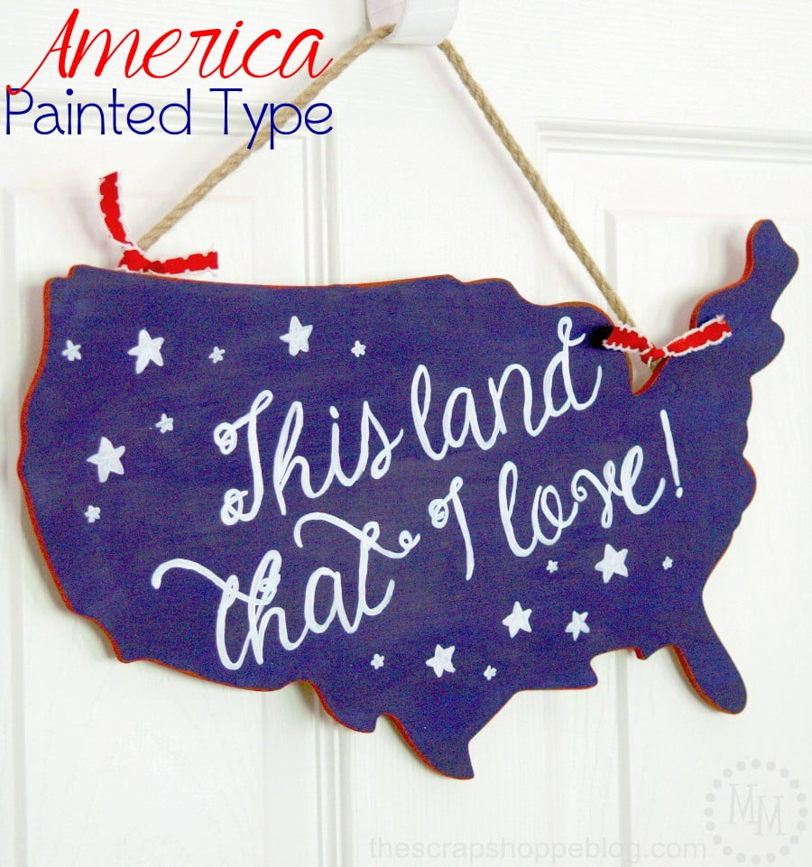 American Painted Patriotic Sign >>> The Scraps Hoppe Blog