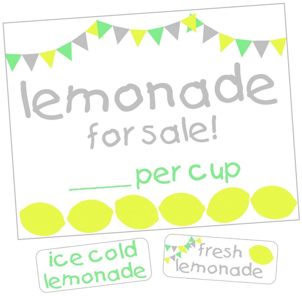Lemonade Stand Label Kit