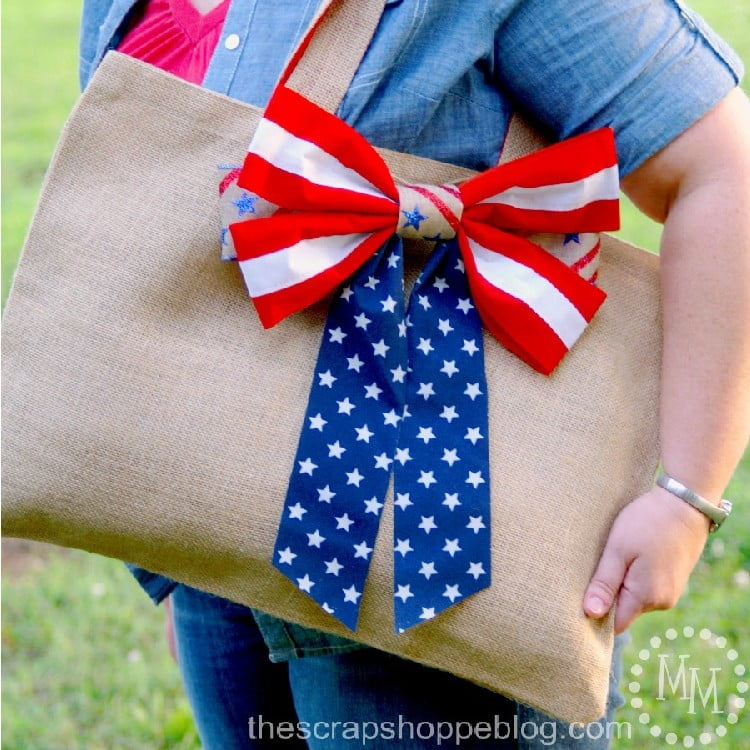 Super Simple Patriotic Tote Bag