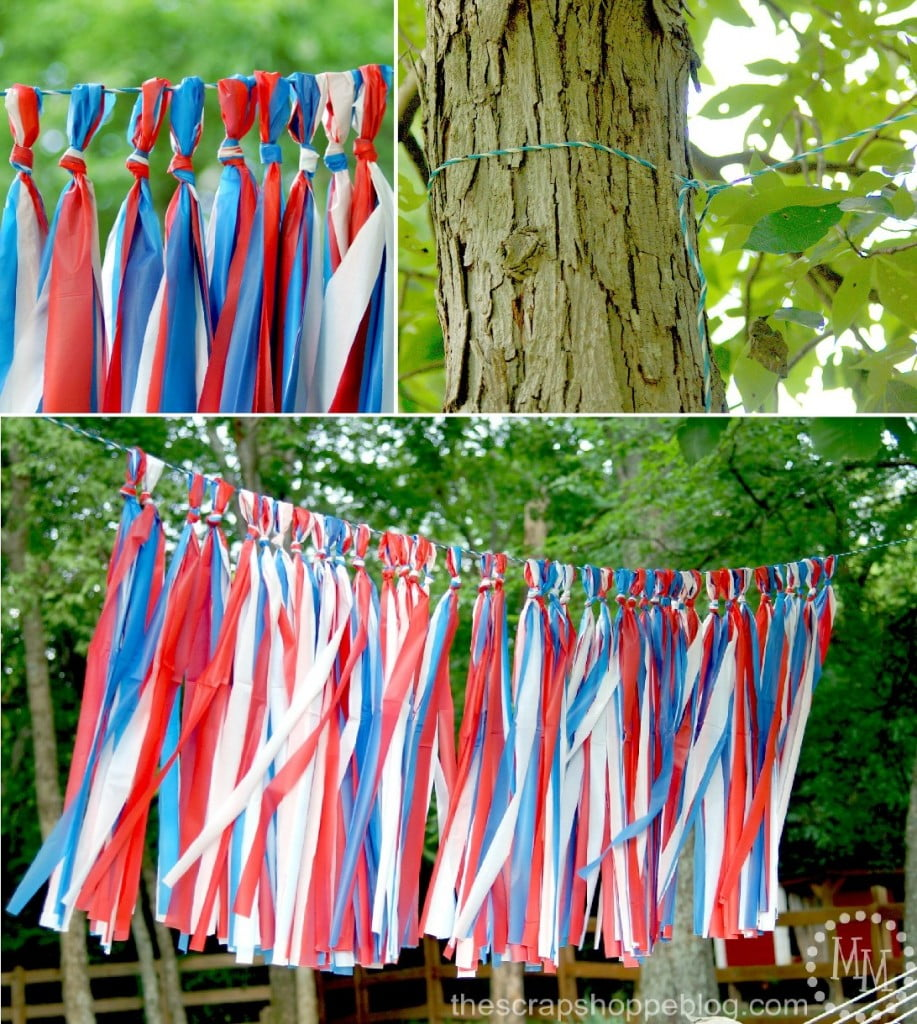 Outdoor Patriotic Tassel Garland
