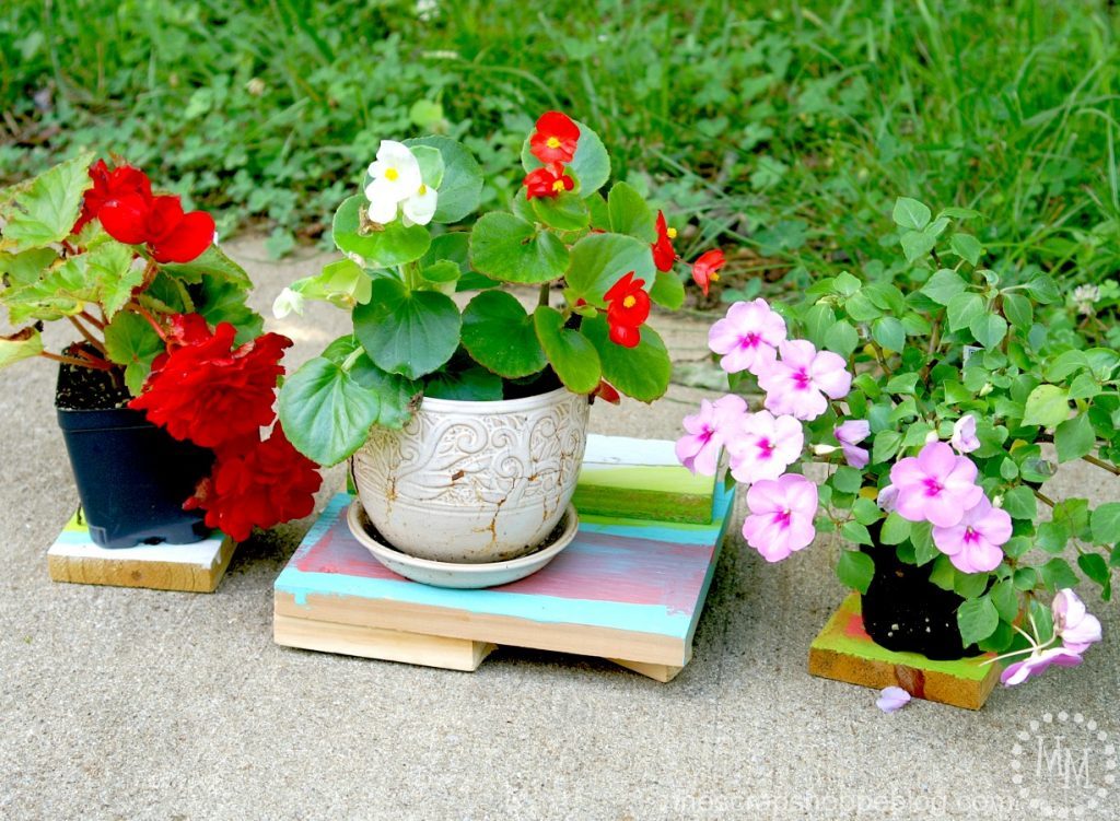 DIY Kid Crafted Plant Stands
