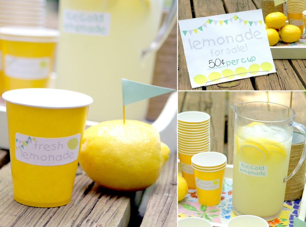 Lemonade Stand Label Kit