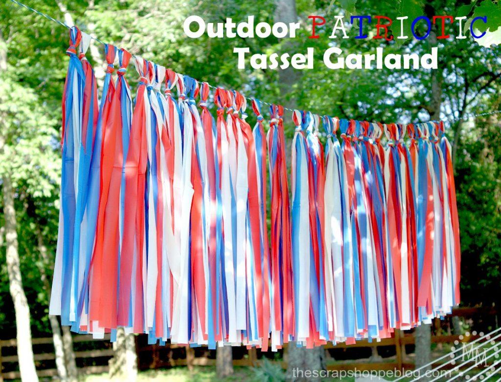 Outdoor Patriotic Tassel Garland The Scrap Shoppe